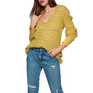 Free People Crashing Waves Pullover Knit Sweater